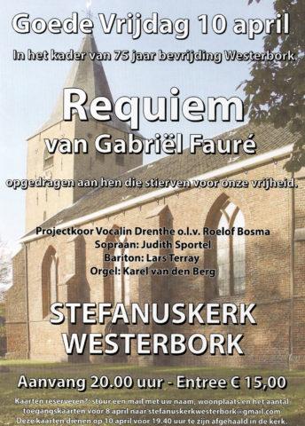 Poster Requiem Stefanuskerk Westerbork